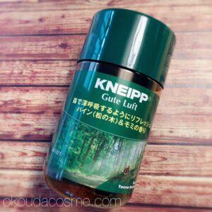 森林浴気分を味わえる入浴剤① クナイプ バスソルト(モミの木の香り)
